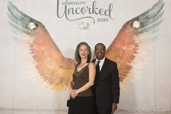 20Hospitality Uncorked-John McGuthry and spouse during Hospitality Uncorked 2020 at the JW Marriott in Los Angeles February 28, 2020.